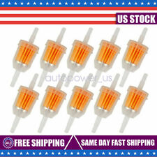 """10Pcs Motor Inline Gas Oil Fuel Filter Small Engine For 1/4' 5/16"""" Line Us"""
