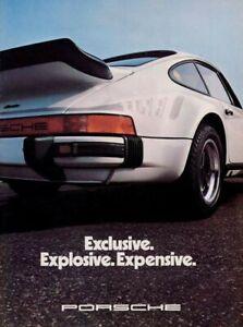 Porsche Turbo Vintage Car Ad Art Print 13x19 High Quality Poster