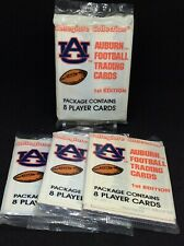 1990s AUBURN TIGERS FOOTBALL COLLEGIATE COLLECTION FOUR (4) UNOPENED PACKS