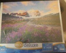 Sealed Mega Puzzles 1500 Pieces Deluxe Large Mountain Paradise Jigsaw Puzzle