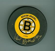 Phil Esposito Autographed Boston Bruins Logo Puck 500 NHL Goals CAS Authentic