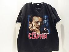 VINTAGE ERIC CLAPTON TOUR SHIRT (LARGE) DOUBLE SIDED TOUR DATES- BLACK-ON SALE