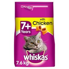 More details for 7.6kg whiskas 7+ senior complete dry cat food biscuits with chicken (4 x 1.9kg)
