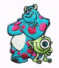 Disney Mike & Sulley Monsters Inc. University Embroidery Iron / Sew On Patch