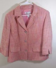 DRESS BARN WOMEN DRESS JACKET BlAZER STYLISH PINK LADIES SIZE 16 W
