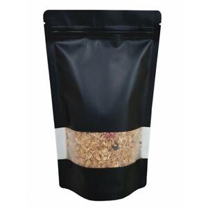 Black Mylar Bags 3.5g Smell Proof Packaging 9cm x 13cm