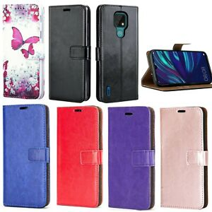 For Motorola Moto E7 Phone Case Leather Flip Stand Slim Gel Wallet Book Cover