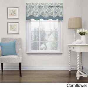 "New Waverly Charmed Life Linen Valance 52"" x 18"" #0792527 Cornflower Blue"