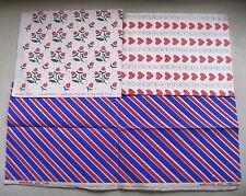 Vintage 1950 Toutes les Occasions Papier Emballage Carreaux Main Imprimé Eleanor