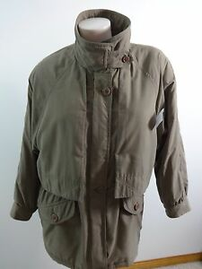 ALORNA WOMENS TAUPE BROWN POLYESTER FRONT ZIP ANORAK JACKET SIZE PS CUTE