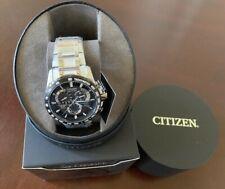 Citizen Perpetual Eco-Drive Titanium Chronograph Men's Watch Atomic AT4010-50E