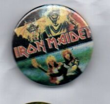 IRON MAIDEN  BUTTON BADGE HEAVY METAL ROCK BAND THE NUMBER OF THE BEAST 25mm PIN