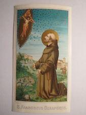 S. Franciscus Seraphicus - Franz von Assisi / Andachtsbild Heiligenbild
