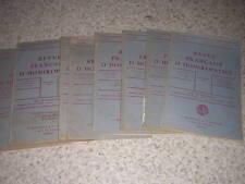 1937.revue française d'homéopathie.9/10N°s.médecine