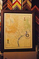 1836 REVOLUTIONARY MAP OF TEXAS FRAMED