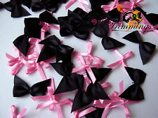 50 PIECE BLACK, + PINK  BOWS COLLECTION