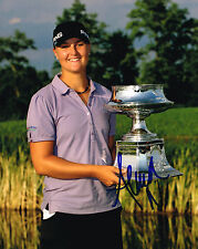 Anna Nordqvist signed Lpga 8x10 Trophy photo with Coa