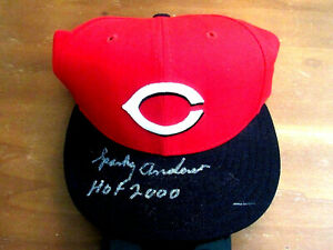 SPARKY ANDERSON HOF 2000 WSC REDS MANAGER SIGNED AUTO NEW ERA CAP HAT JSA