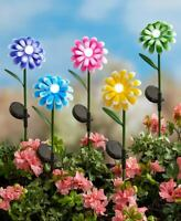 Solar Bubble Light Flower Stakes Landscape Yard Garden & Walkway Lights 5 Colors