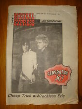 NME 1978 APR 8 CHEAP TRICK GENERATION X WRECKLESS ERIC