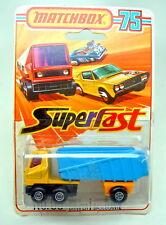 Matchbox SF Nr. 50B Articulated Truck gelb & blau Blisterpack