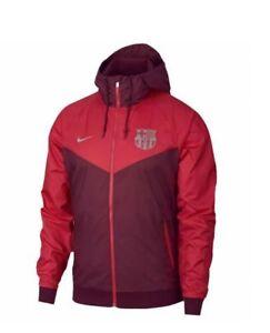 Nike FC Barcelona 2018 - 2019 All Weather Soccer Windbreaker Hooded Jacket
