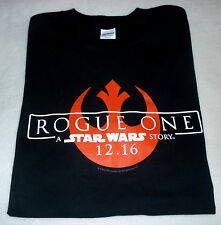NEW Exclusive ROGUE ONE: A STAR WARS STORY Movie Rebels Logo Men T-Shirt SM