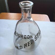Bourbon Old Red Still Back Bar Whiskey Bottle