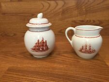 Wedgwood FLYING CLOUD RUST Creamer & Sugar Bowl ~ Excellent