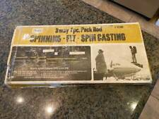 New listing Vintage Sears Roebuck 7 Pc 3 Way 30588 Fly Spinning Fishing Pack Rod with Case