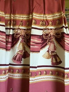 PAIR PINCH PLEAT LINED DRAPES,DUSTY ROSE,MAUVE,PURPLE,NEW,$25.