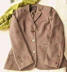 REALLY WILD  Tweed Hacking Jacket  SZ label 10  Nut brown-  may fit 8 UK better