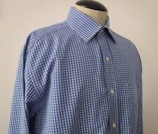 Tommy Hilfiger Men's Blue & White Checked Long Sleeve Shirt Sz 15 1/2 M  EUC