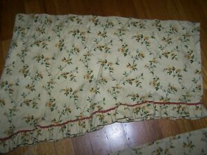 WAVERLY RUFFLED SWAG VALANCE SUNFLOWER PRINT
