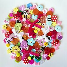 100 Best Buttons Wood Resin Acrylic Craft Scrap Booking Sewing Mix