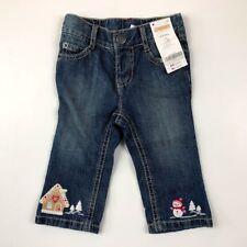 Gymboree Girls 6-12 Months Cozy Cutie Gingerbread House Jeans Pants Christmas