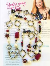 Premier Designs Jewelry BORDEAUX Hematite plated/Glass/Faux pearl Necklace