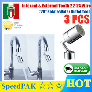 Universal Splash Filter Faucet Home Kitchen 720° Rotate Water Outlet Tool IT 3PC