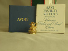 Avon Fashion Accents in Jewelry Victoriana Pitcher Charm 14KT Gold Electroplated