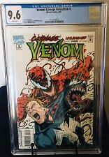Venom: Carnage Unleashed #3 CGC 9.6 Low Print Run. Hard To Find!