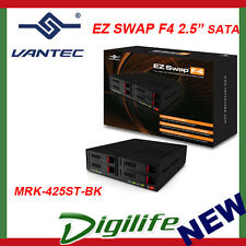 """VANTEC EZ SWAP 4 bay 2.5"""" SATA SSD/HDD Removable Rack MRK-425ST-BK"""