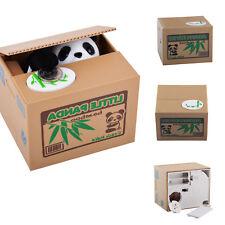 Panda stiehlt Münzen Sparbüchse Elektronische Spardose Sparschwein  Katze