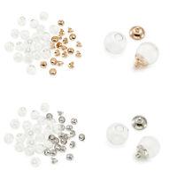 20Pcs 8/10/12/14/16/18mm Empty Blown Glass Hollow Ball Beads DIY Charms Making
