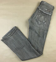 MISS ME Womens Brown Wash Boot Cut Distressed Jeans TAg Size 26 Actual 26x33