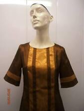 Dress MOD bronze vertigo 90s VERTIGO PARIS XSMALL ALINE MOD 60S twiggy costume?