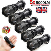 10x Lot 5000LM CREE Q5 LED AA/14500 ZOOMABLE Tactical Flashlight Torch Lamp UK