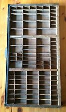 Printer Block Letterpress Drawer Tray Hamilton Vintage Army Green 87 Slots