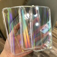 Transparent iPhone Case Rainbow Acrylic Cover Soft iPhone Shockproof Clear Fit