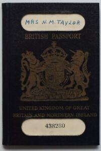 Photo British Passport Document Worcester Taylor Jew Visa Stamp Stamps