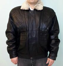 GENUINE LAMB LEATHER COAT JACKET WITH REMOVABLE COLLAR, REMOVABLE LINING SIZE M